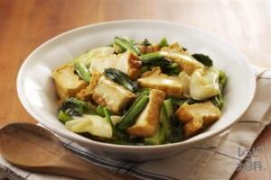 厚揚げと小松菜のほんのりカレー煮
