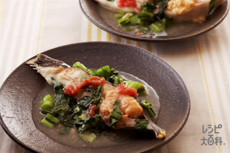 小松菜と鰈のだしうま煮
