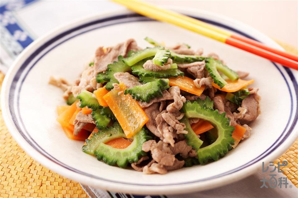 ゴーヤと豚肉のだしうま煮(豚薄切り肉+ゴーヤを使ったレシピ)