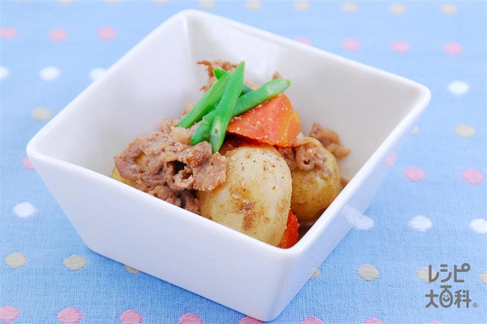 新じゃがのごま煮(新じゃがいも+豚こま切れ肉を使ったレシピ)