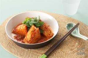 肉詰め厚揚げのベトナム風(厚揚げ+トマト水煮缶を使ったレシピ)