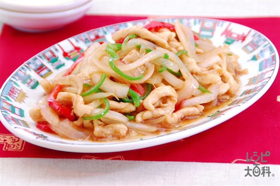 鶏肉と新玉ねぎのオイスター炒め(鶏むね肉+新玉ねぎを使ったレシピ)