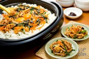 豚キムチ&石焼き風ビビンバ