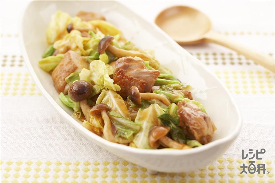 キャベツと鶏肉のだしうま煮(キャベツ+鶏もも肉を使ったレシピ)