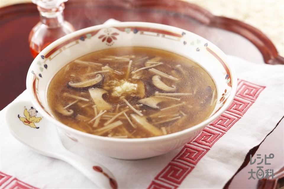3種のきのこスープ(えのきだけ+しいたけを使ったレシピ)