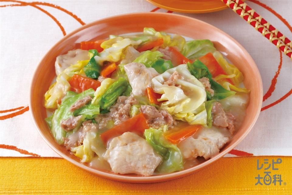 鶏ツナキャベツの八宝菜(鶏むね肉+キャベツを使ったレシピ)