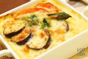 夏野菜のバターコーンドリア(牛乳+温かいご飯を使ったレシピ)