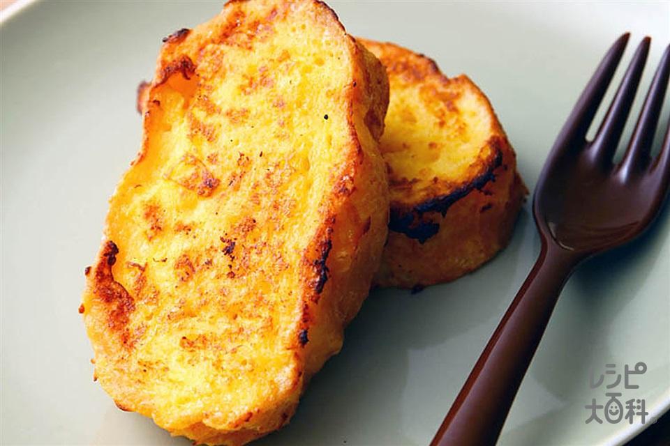 コーンクリームフレンチトースト(フランスパン+牛乳を使ったレシピ)