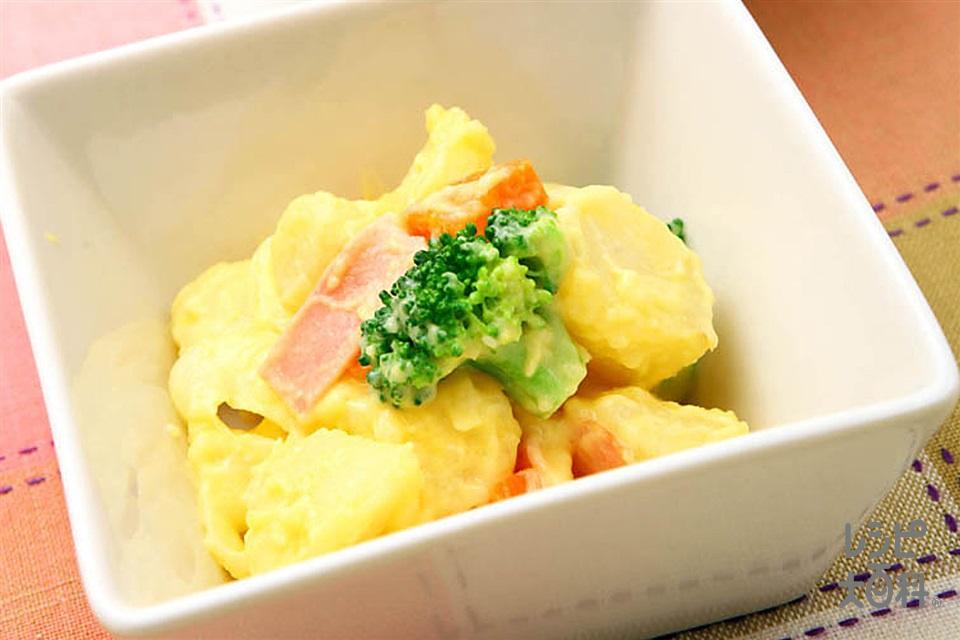 コーンポテトサラダ(「クノール カップスープ」コーンクリーム+湯を使ったレシピ)