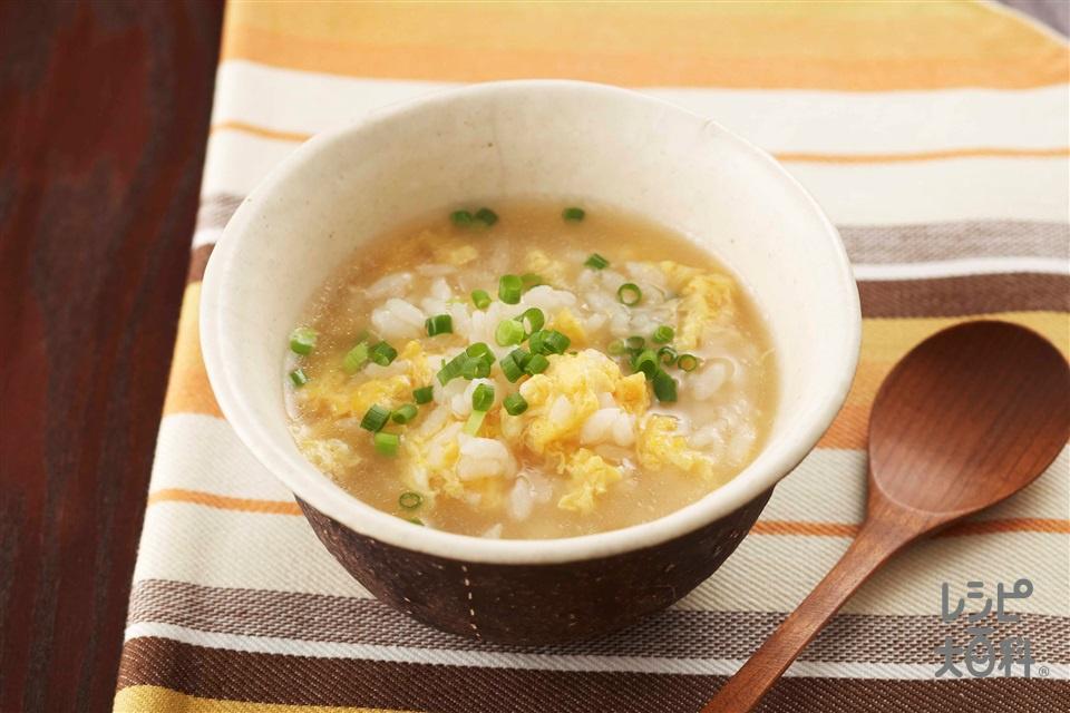 シメ雑炊(ご飯+溶き卵を使ったレシピ)