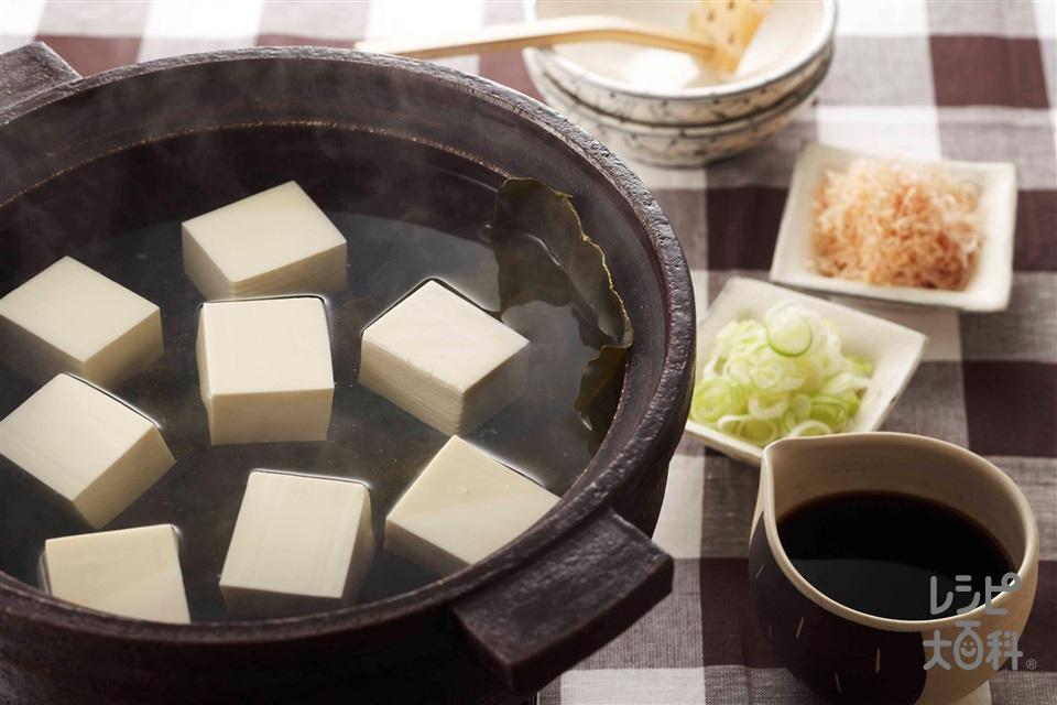 湯豆腐(絹ごし豆腐+ねぎを使ったレシピ)