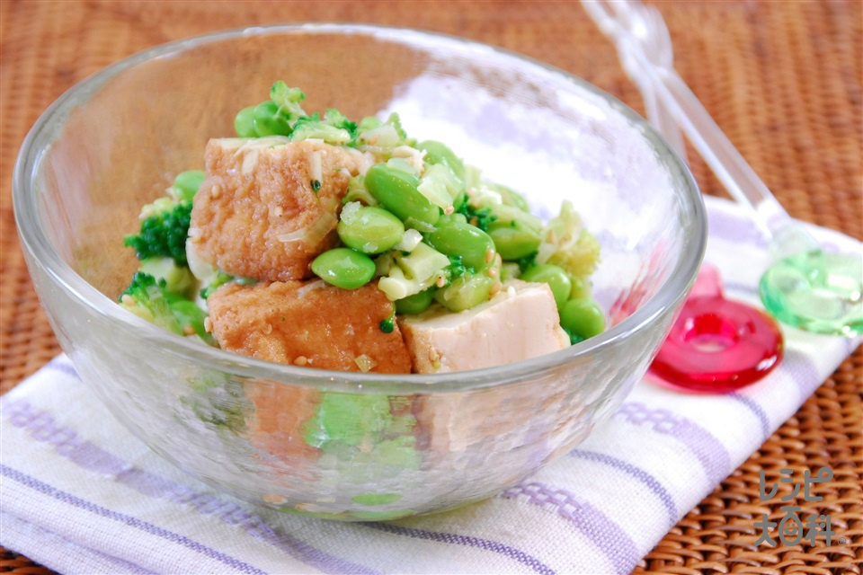 枝豆と厚揚げの香味あえ(枝豆+厚揚げを使ったレシピ)