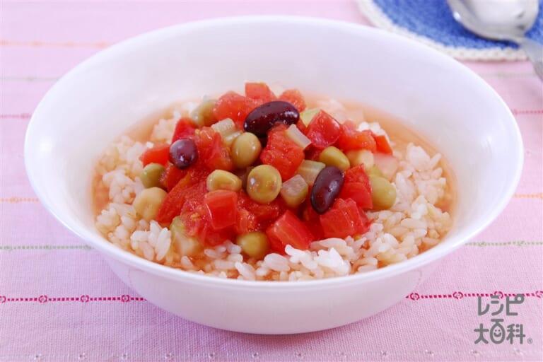 冷やしトマトのスープご飯