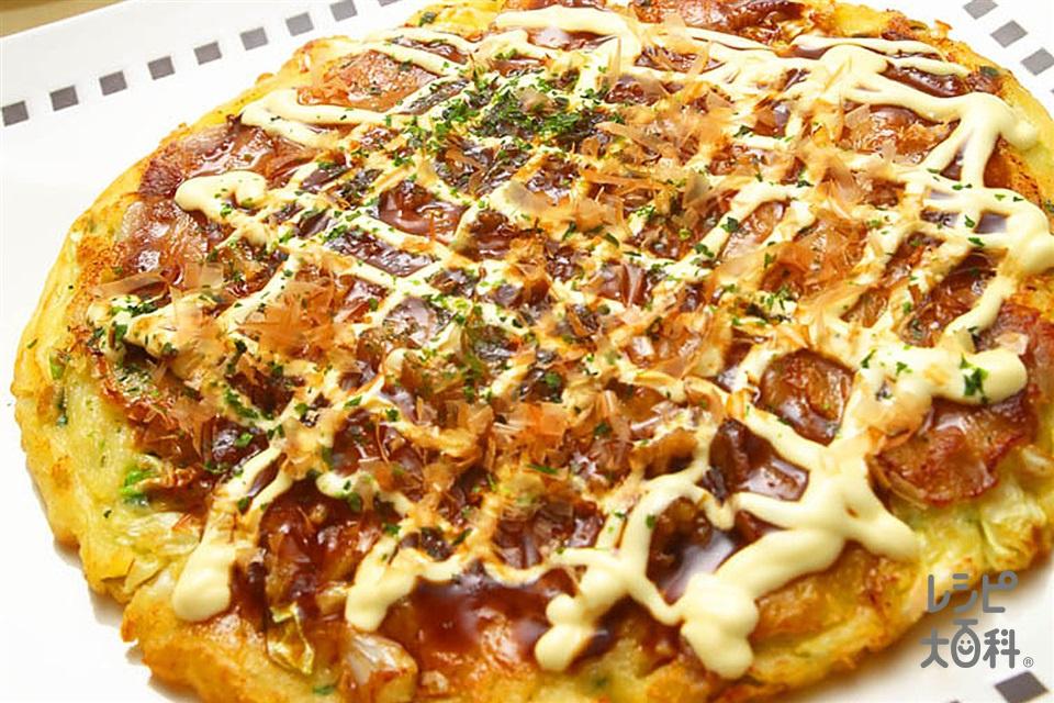 おコーンのみ焼き(豚バラ薄切り肉+キャベツを使ったレシピ)