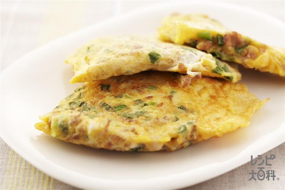 卵焼き(卵+豚ひき肉を使ったレシピ)