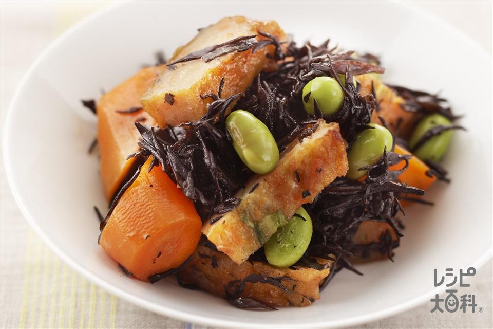 ひじきとにんじんの煮もの(にんじん+さつま揚げを使ったレシピ)
