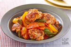 酢豚(豚もも肉+パプリカ(黄)を使ったレシピ)