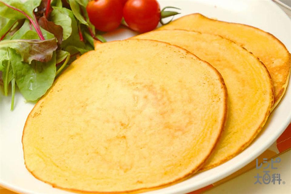 ベジタブルパンケーキ(卵+牛乳を使ったレシピ)