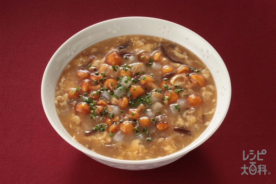 なめこと大根のふかひれスープ(大根+なめこ(ゆで)を使ったレシピ)