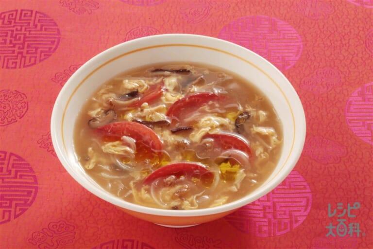 トマトと玉ねぎのふかひれスープ