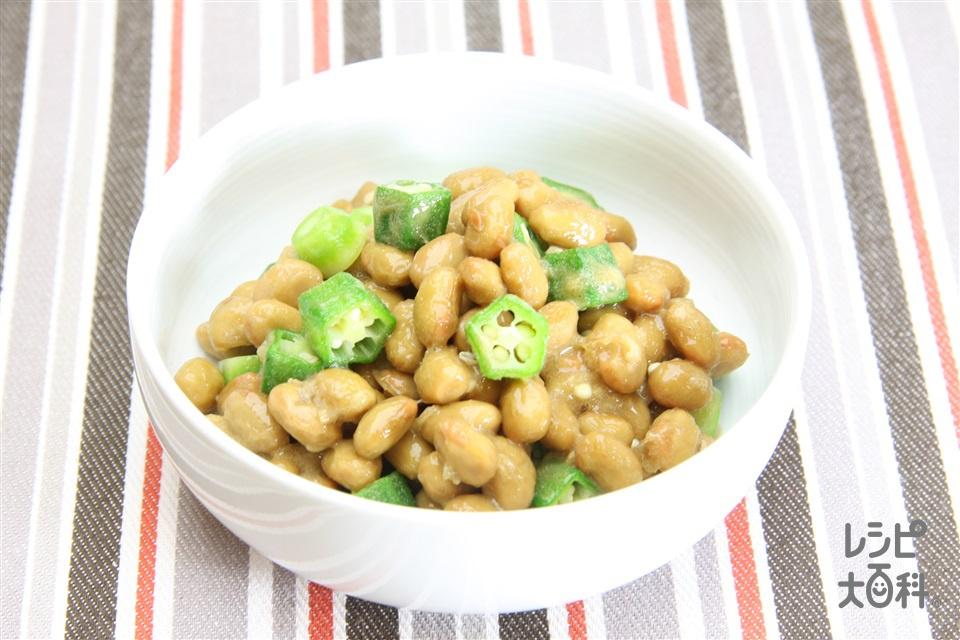 オクラ納豆(納豆+オクラを使ったレシピ)