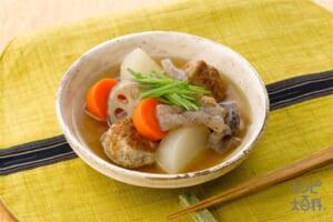 根菜と鶏だんごのふくめ煮