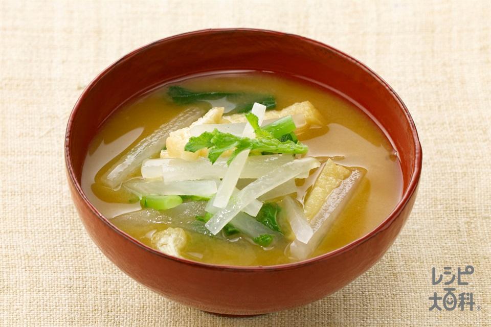 大根のおみそ汁(大根+油揚げを使ったレシピ)