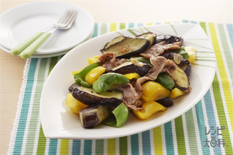 夏野菜の洋風いため(なす+豚肉を使ったレシピ)