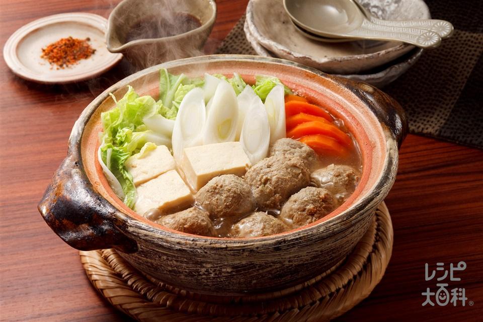 白菜といわしのつみれ鍋