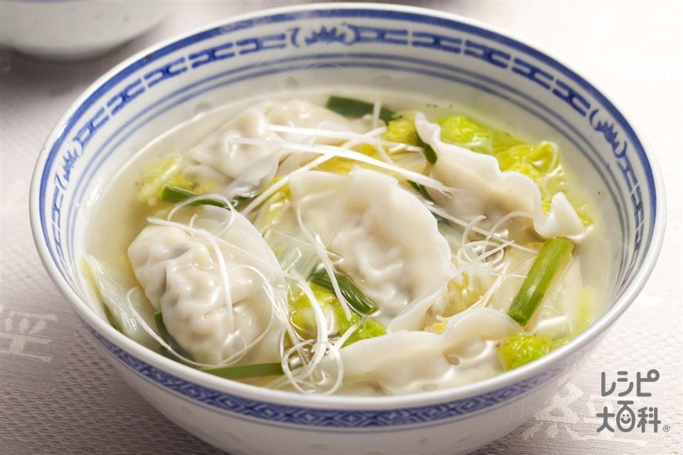 ギョーザ入り白菜スープ(味の素冷凍食品KK「ギョーザ」+白菜を使ったレシピ)