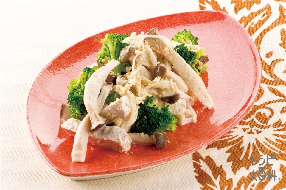 きのことかじきのごまマヨサラダ(まかじき+ブロッコリーを使ったレシピ)