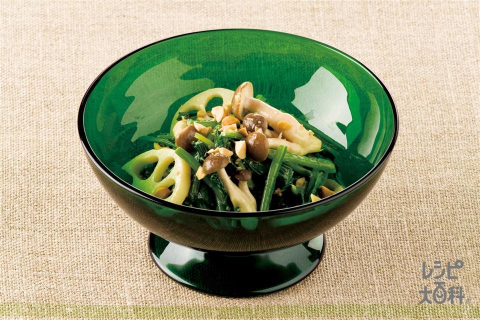 ほうれん草のオイマヨサラダ(ほうれん草+しめじを使ったレシピ)