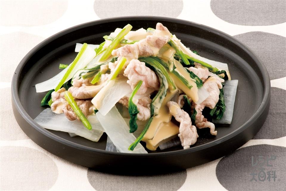 大根とゆで豚のサラダ(豚しゃぶしゃぶ用肉+大根を使ったレシピ)
