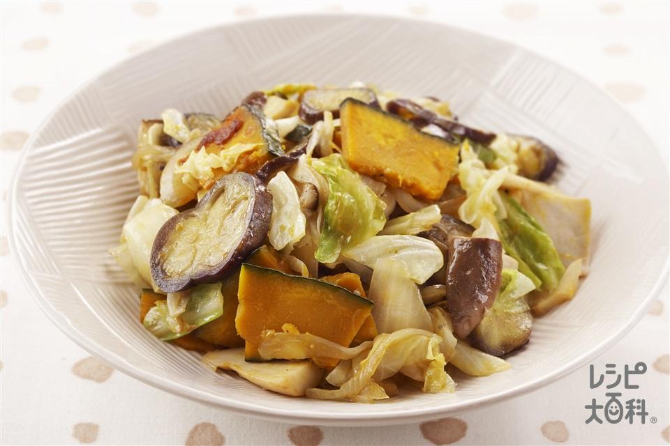 野菜の炒め焼き