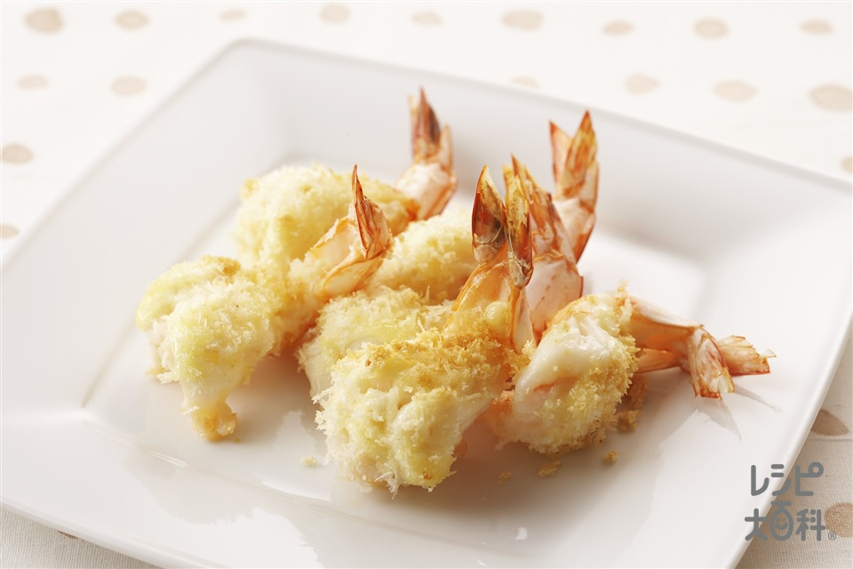 えびのパン粉焼き(えび+「味の素」を使ったレシピ)