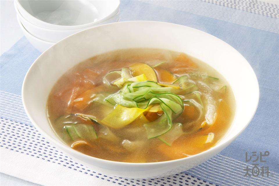 ウリうり瓜のあったかスープ(きゅうり+にんじんを使ったレシピ)