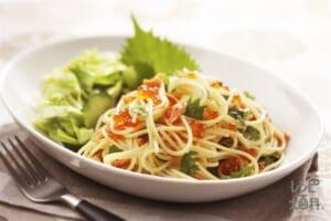 塩鮭とイクラのスパゲッティ