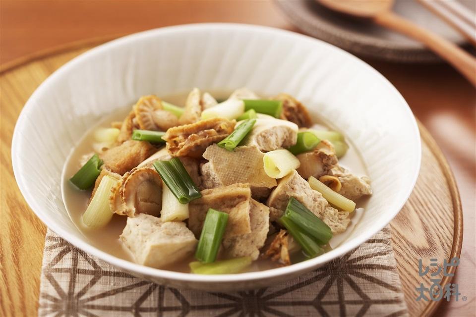 豆腐とホタテの夫婦炊き