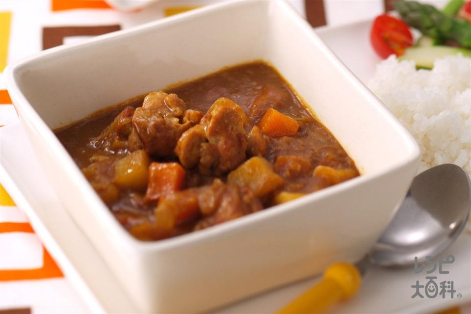 我が家のチキンカレー(鶏もも肉+じゃがいもを使ったレシピ)