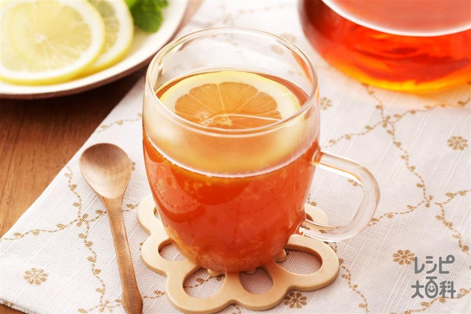 レモンジンジャーティー(レモンの輪切り+しょうがのすりおろしを使ったレシピ)