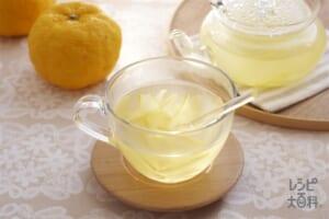 ゆず茶(ゆずの皮+ゆずのしぼり汁を使ったレシピ)