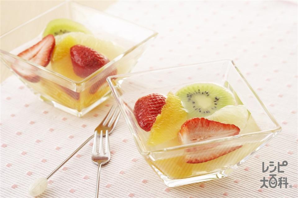 フルーツマリネ(オレンジ+グレープフルーツを使ったレシピ)