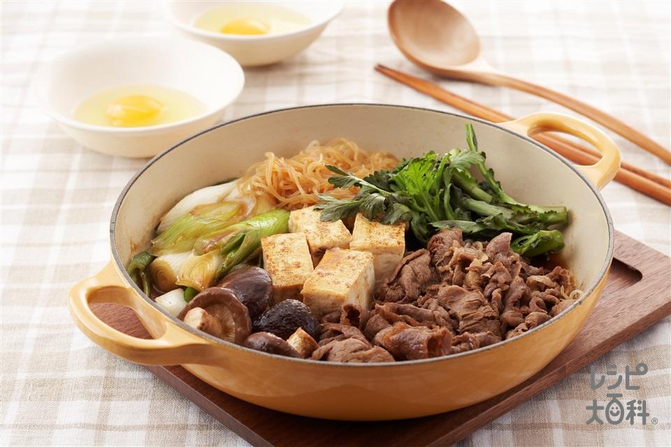 すき焼き(牛薄切り肉+長ねぎを使ったレシピ)