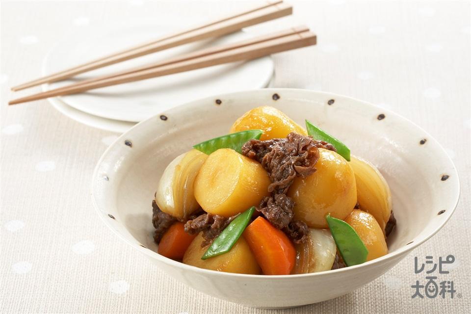 肉じゃが(牛バラ薄切り肉+玉ねぎを使ったレシピ)