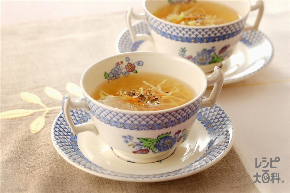 もやしとキャベツのスープ(キャベツ+もやしを使ったレシピ)