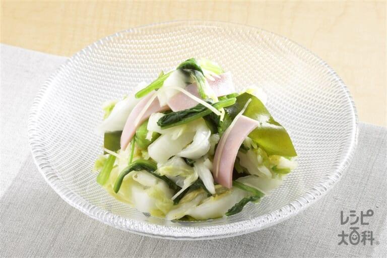 白菜の簡単和えもの