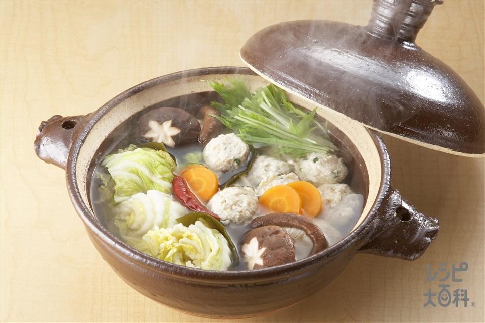 白菜漬け鍋(白菜の塩漬け+鶏ひき肉を使ったレシピ)