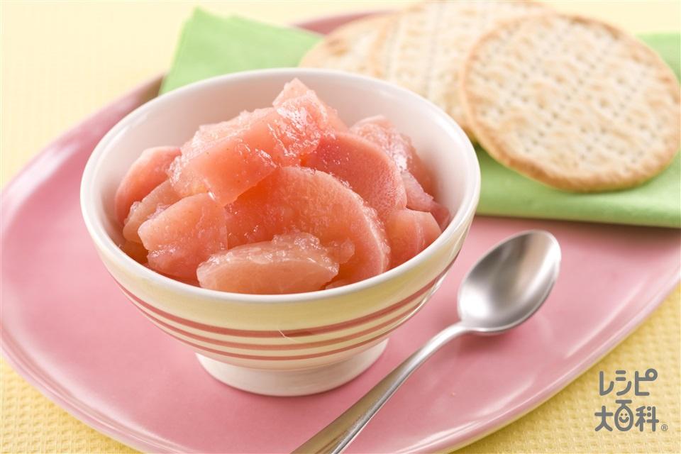 ゴロゴロりんごの食べジャム・ジンジャー風味(りんご+レモン汁を使ったレシピ)