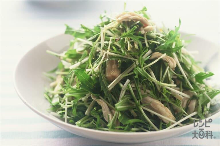 水菜とささみのサラダ