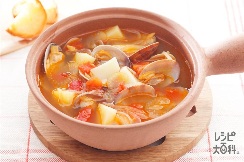 簡単ミニブイヤベース(トマト水煮缶+じゃがいもを使ったレシピ)